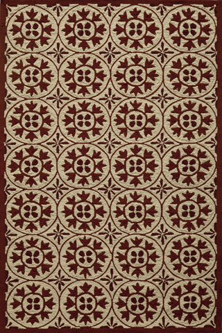 Image of Veranda Rug in Red