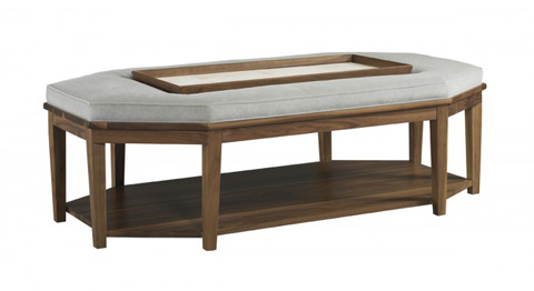 Mr. and Mrs. Howard by Sherrill Furniture - Un Deux Tray Ottoman - H218OT