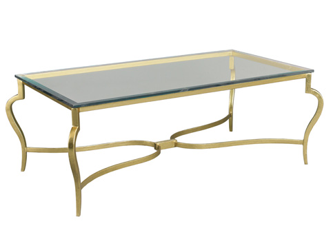 Mr. and Mrs. Howard by Sherrill Furniture - Guilty Pleasures Cocktail Table in Gold - MH18310G-91