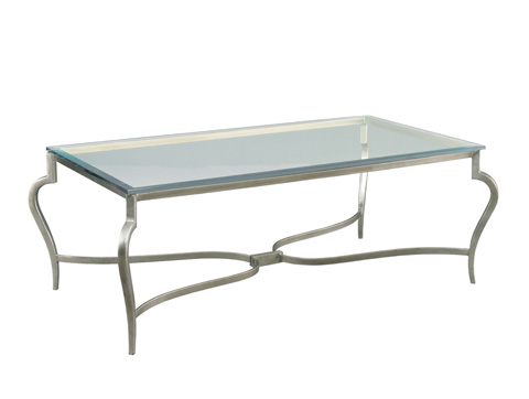 Mr. and Mrs. Howard by Sherrill Furniture - Guilty Pleasures Cocktail Table in Silver - MH18310S-91