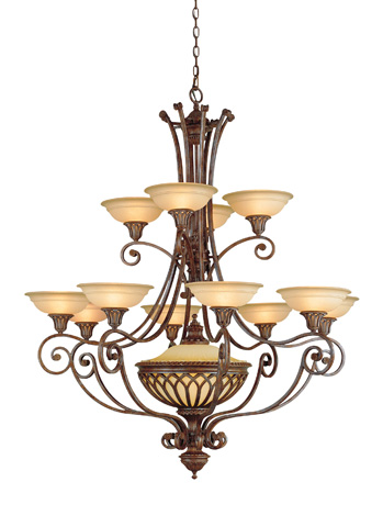 Feiss - Twelve - Light Multi-Tier Chandelier - F1918/12+1BRB