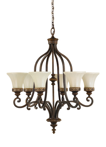 Feiss - Six - Light Single Tier Chandelier - F2224/6WAL