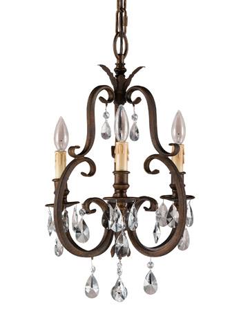 Feiss - Three - Light Mini Duo Chandelier - F2226/3ATS