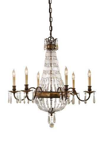 Feiss - Six - Light Single Tier Chandelier - F2461/6OBZ/BRB