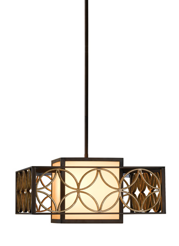 Feiss - Two - Light Shade Pendant - F2467/2HTBZ/PGD