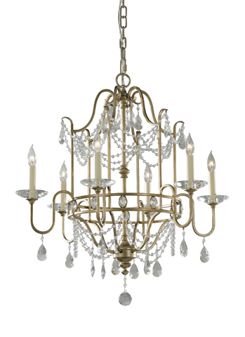 Feiss - Six - Light Single Tier Chandelier - F2475/6GS