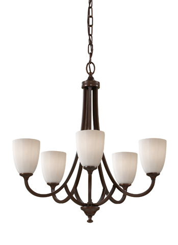 Feiss - Five - Light Single Tier Chandelier - F2584/5HTBZ