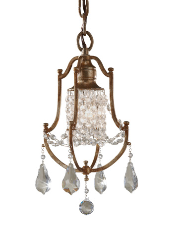 Image of One - Light Mini Duo Chandelier
