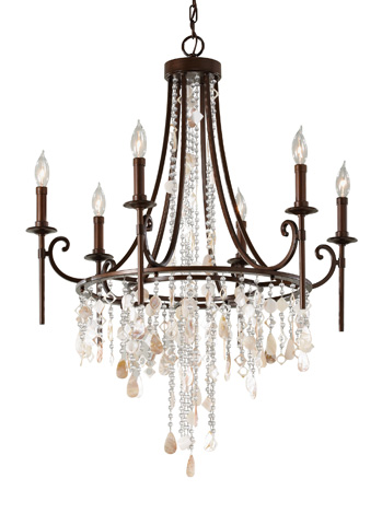 Feiss - Six - Light Single Tier Chandelier - F2660/6HTBZ