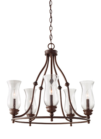 Feiss - Five - Light Single Tier Chandelier - F2783/5HTBZ