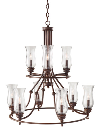 Feiss - Nine - Light Multi Tier Chandelier - F2785/3+6HTBZ