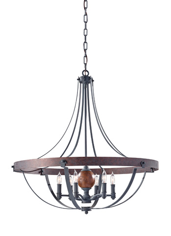 Feiss - Six - Light Single Tier Chandelier - F2796/6AF/CBA