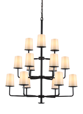 Feiss - Fifteen - Light Huntley Chandelier - F2926/3+6+6ORB