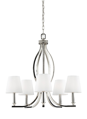 Feiss - Five - Light Crystal Inlay Chandelier - F2967/5PN