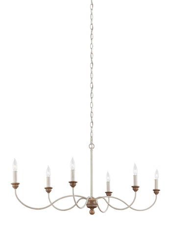 Feiss - Six - Light Chandelier - F3000/6CHKW/BW