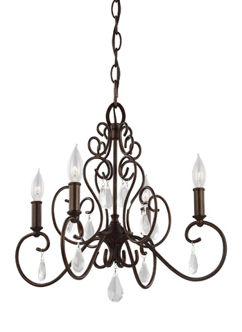 Feiss - Four - Light Chandelier - F3041/4BNB
