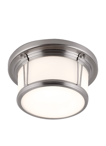 Image of Two - Light Woodward Flush Mount