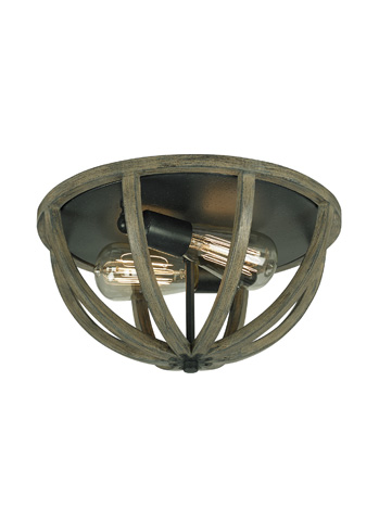Image of Two - Light Flush Mount
