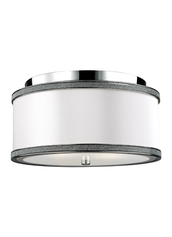 Feiss - Two - Light Crystal Inlay Flush Mount - FM442PN