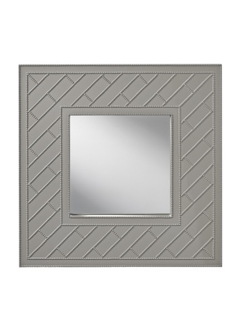 Feiss - Hi Gloss Grey Trellis Mirror - MR1182HGG