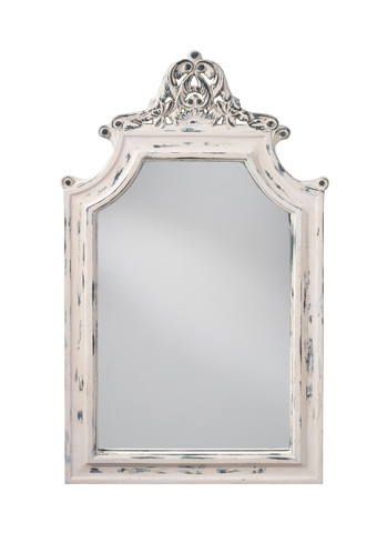 Feiss - Hand Painted White Mirror - MR1189HPW