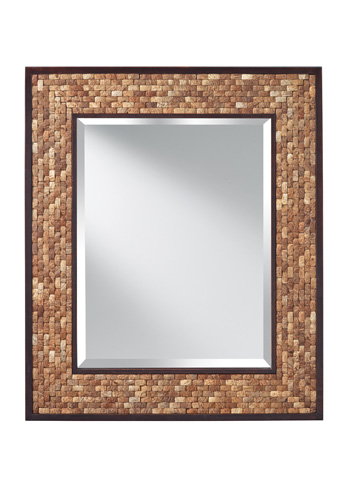 Feiss - Natural Coconut and Kona Mirror - MR1211NCK