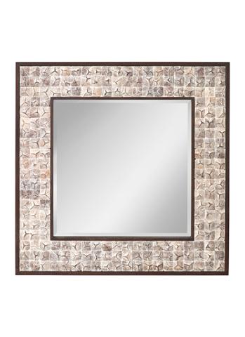 Feiss - White Wash Coconut Mirror - MR1214WWHC