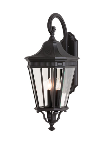 Feiss - Three - Light Wall Lantern - OL5404BK