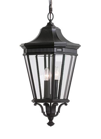 Feiss - Three - Light Outdoor Pendant - OL5412BK