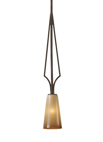 Feiss - One-Light Mini Pendant - P1226MBZ