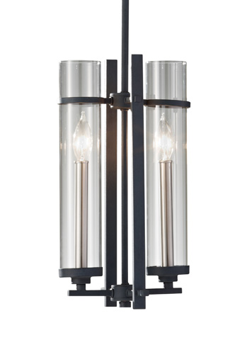 Feiss - Two-Light Mini Pendant - P1251AF/BS
