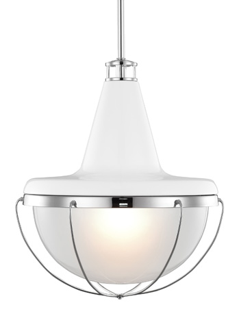 Feiss - One- Light Pendant - P1284HGW/PN