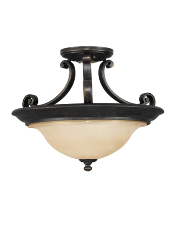 Feiss - Two - Light Indoor Semi-Flush Mount - SF231LBR