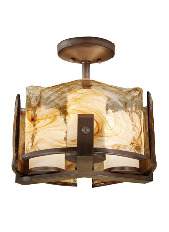 Feiss - Three - Light Indoor Semi-Flush Mount - SF299RBZ