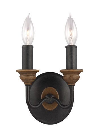 Feiss - Two - Light Sconce - WB1756DWZ/WO
