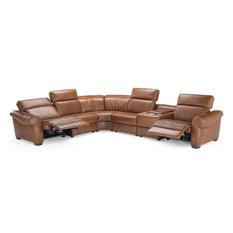 Natuzzi Editions - Leather Reclining Sectional - B751SECT