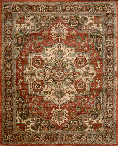 Nourison Industries, Inc. - Red Rectangle Rug - 99446011572