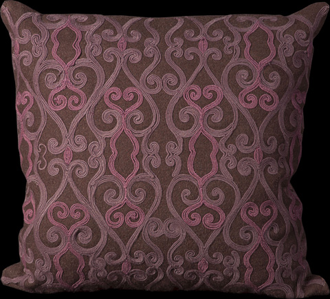 Nourison Industries, Inc. - Brown Square Throw Pillow - 99446017536