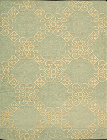 Nourison Industries, Inc. - Light Green Rectangle Rug - 99446046864