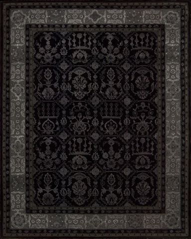 Nourison Industries, Inc. - Black Rectangle Rug - 99446052582