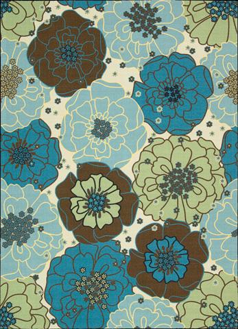 Nourison Industries, Inc. - Light Blue Rectangle Rug - 99446111968