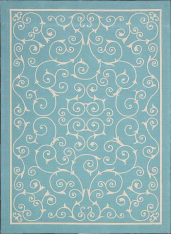 Nourison Industries, Inc. - Home and Garden Light Blue Rectangular Rug - 99446112040