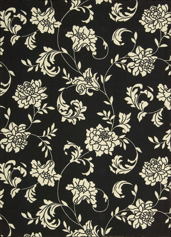 Nourison Industries, Inc. - Home and Garden Black Rectangular Rug - 99446112224