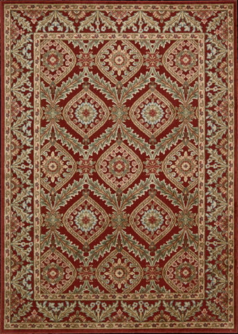 Nourison Industries, Inc. - Red Rectangle Rug - 99446145567