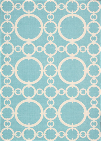 Nourison Industries, Inc. - Aqua Rectangle Rug - 99446147745