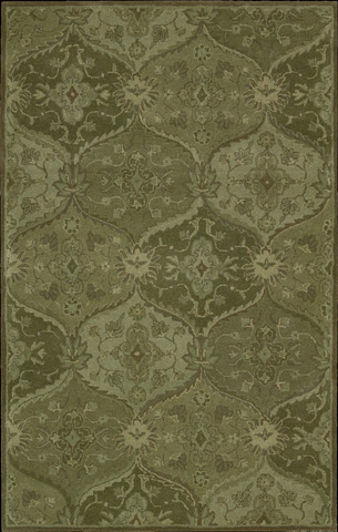 Nourison Industries, Inc. - Green Rectangle Rug - 99446161925
