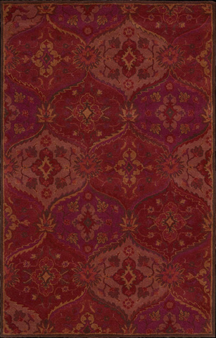 Nourison Industries, Inc. - Red Rectangle Rug - 99446162007
