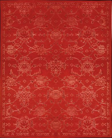 Nourison Industries, Inc. - Red Rectangle Rug - 99446179616