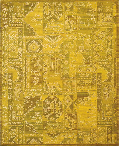 Nourison Industries, Inc. - Yellow Rectangle Rug - 99446179807