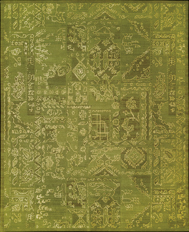 Nourison Industries, Inc. - Silk Infusion Green Rectangular Rug - 99446179890